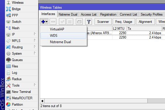 Mikrotik RouterOS расширение зоны действия беспроводной сети, посредством WDS
