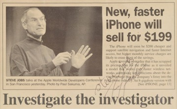 24877 33008 Jobs Signed Newspaper Article l